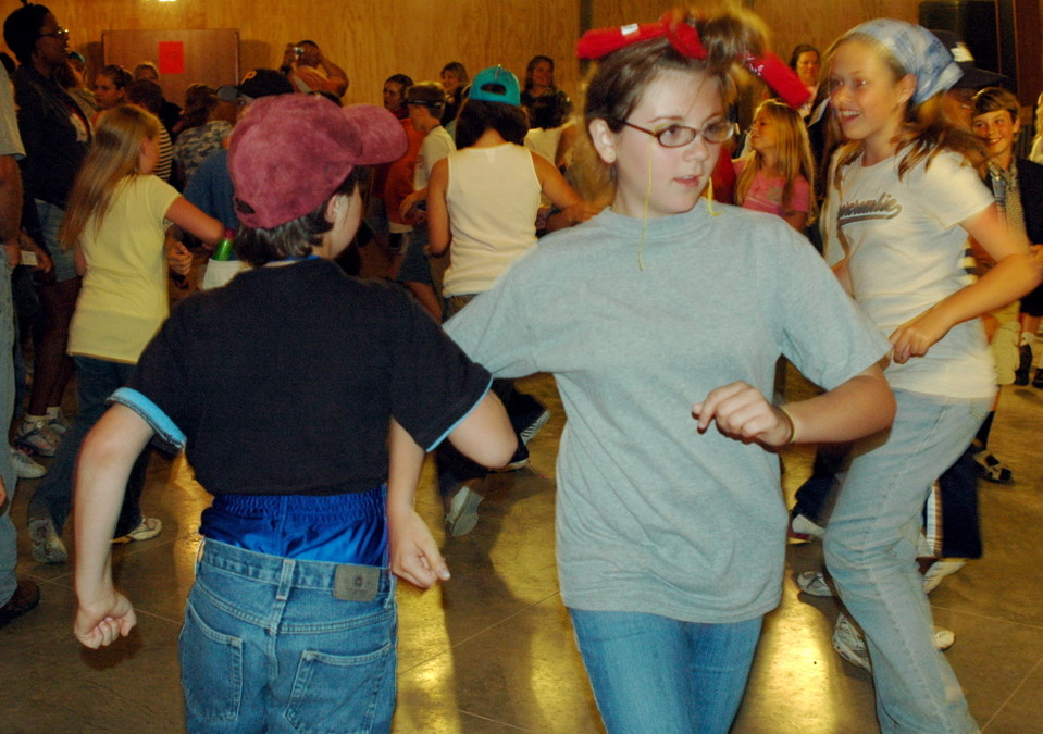 A square dance gets things going